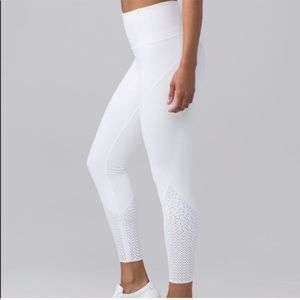 Lululemon Anew perforated leggings White 2